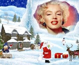 carte de Noël avec des paysages de Noël de fond de dessin.