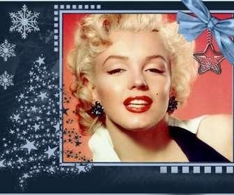 Carte de Noël classique, personnalisable avec une photo.