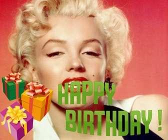 """Photomontage de faire une carte d""""anniversaire avec votre photo avec le texte BIRTHDAY."""