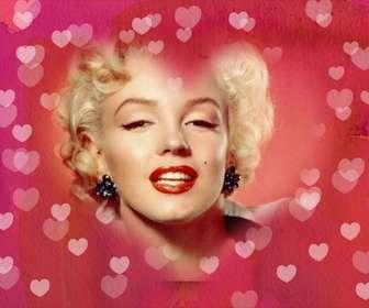 Cadre photo coeur photo pour mettre votre photo en arrière-plan. Fond rose avec beaucoup de cœurs. Idéal pour les amoureux.