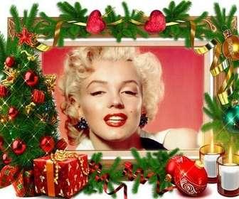 "Un cadre photo qui n""a besoin d""aucun ornement de Noël."