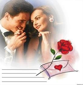 Effet photo avec une rose rouge et une lettre damour, vous pouvez modifier