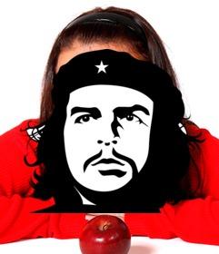 Effet du visage Che Guevaras en noir et blanc