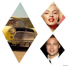 photo gratuite collage pour ajouter trois images insiade rhombus