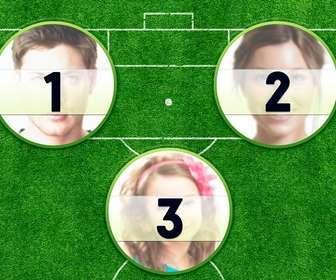 collage pour creer votre parfaite equipe stars du football avec trois coups feu jusqua trois photos domaine