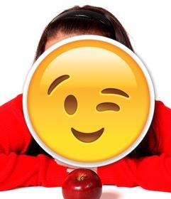 wink emoji pour inserer dans vos photos
