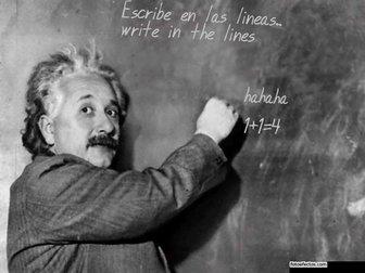 Photomontage Slate Einstein