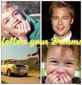 collage photos avec phrase suivez vos reves telecharger 4 vos photos