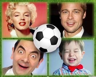 collage pour quatre images parfaites pour les amateurs football