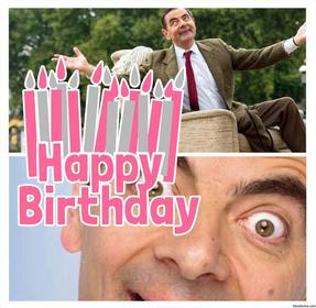 carte postale pour editer avec deux photos et ajouter phrase happy birthday avec beaucoup bougies
