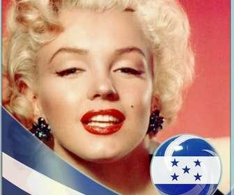 Effet photo pour ajouter le drapeau du Honduras sur votre photo en ligne.