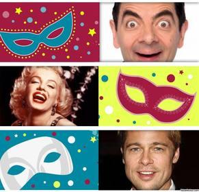 collage colore pour celebrer carnaval telechargeant trois photos