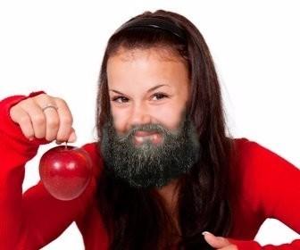 Photomontage de mettre une barbe sur votre photo.