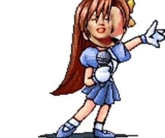 Photomontage danimations, deffets de cosplay et de manga avec des filles