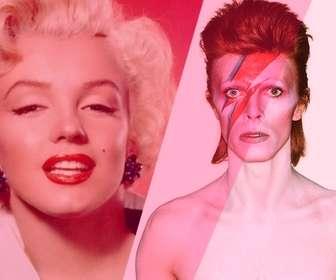 Photomontage avec David Bowie avec filtre rose pour ajouter et éditer vos photos en ligne.