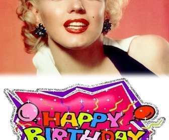 """Créez votre propre carte d""""anniversaire personnalisé avec une photo! Utilisez-le pour souhaiter un joyeux anniversaire à la carte ou un rappel."""