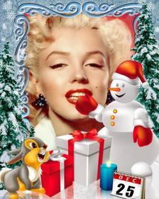 Photomontage jour de Noël à personnaliser avec des photos.