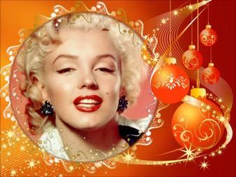 Cadre photo avec des décorations de Noël pour mettre votre photo.