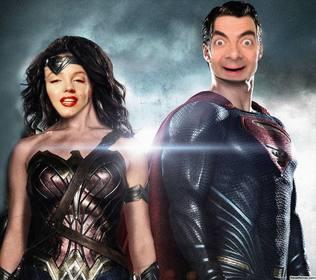 Placez votre visage sur Wonder Woman et Superman avec cet effet