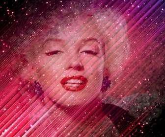 """Photomontage spécial dans lequel vous pouvez mettre une image sur un fond abstrait semi-transparent violet avec des étoiles dans l""""univers et ajouter du texte."""