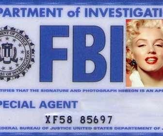 """Créez votre carte personnalisée de l""""agent spécial du FBI département d""""enquête et d""""ajouter votre photo, votre nom et prénom."""
