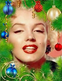 Guirlande de Noël pour décorer votre photo.