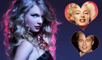 collage pour deux photos avec une photo taylor swift