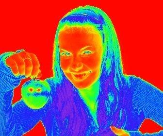 """Photo Filtre effet thermographie, l""""imagerie thermique permet de l""""image que vous téléchargez."""