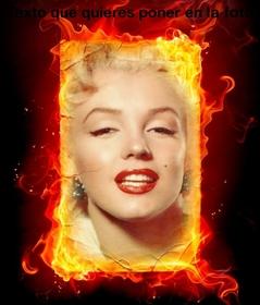 Montage photo de feu que vous pouvez faire avec vos photos en ligne.
