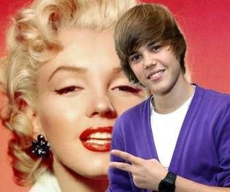 Photomontage pour prendre une photo avec Justin Bieber