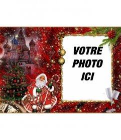Photomontages élégant de Noël et le Père Noël pour ajouter votre photo