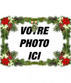 Cadre photo avec ornement que vous pouvez utiliser comme une salutation de Noël.
