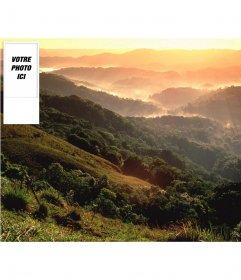 """Fond d""""écran personnalisable avec votre photo twitter d""""un paysage de montagne"""