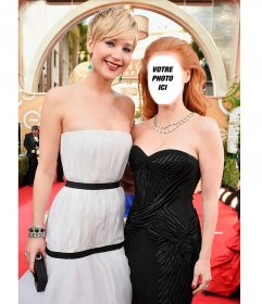 Pose avec Jennifer Lawrence avec ce photomontage à voir avec votre photo