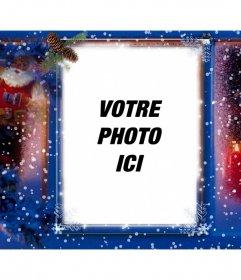 Carte de Noël spécial pour ajouter votre photo avec photomontages en ligne un filtre décorative à personnaliser avec la photo que vous voulez et avec une conception de Noël, avec la neige et le Père Noël comme un filtre que vous pouvez télécharger sur votre ordinateur et lutiliser comme fond décran et avoir une belle détail avec limage que vous choisissez. Vous pouvez également partager cet effet sur vos réseaux sociaux pour Noël et est gratuite