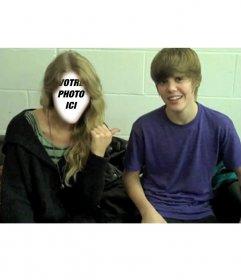 Photomontage de Justin Bieber garçon avec fille blonde de mettre votre
