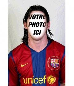 Photomontage de Lionel Messi du FC Barcelone pour ajouter votre visage dans son visage
