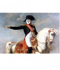 Photomontage avec Napoléon Bonaparte sur son cheval