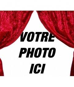 le rideau s quot ouvre photomontage pour d 233 corer votre photo avec des ri photoeffets