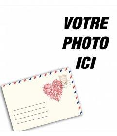 Photomontage avec une lettre damour à modifier avec votre photo en ligne