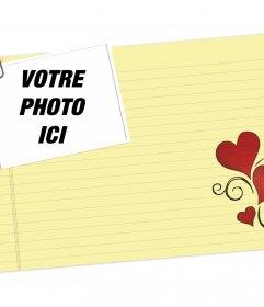 Lettre damour, vous pouvez modifier le téléchargement une de vos photos et imprimer