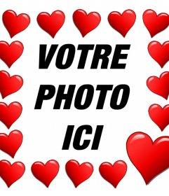 Coeurs entourent votre photo avec cet effet romantique modifier