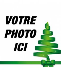 Vecteur darbre de Noël pour décorer votre photo