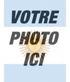 Filtre pour votre photo Drapeau de lArgentine à utiliser comme fond décran papier peint