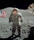 Photomontage de mettre votre visage dun astronaute sur la lune