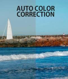 Correction automatique de la couleur dans les photos en ligne