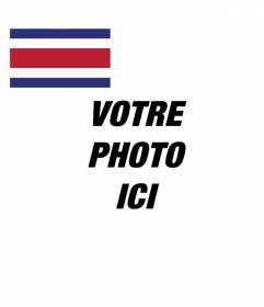 Décorez votre avatar sur twitter et facebook avec le drapeau du Costa Rica et votre photo et personnaliser votre profil en ligne