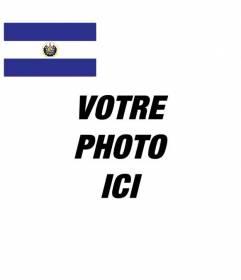 Mettez le drapeau El Salvador dans votre photo de profil médias sociaux en ligne et gratuit