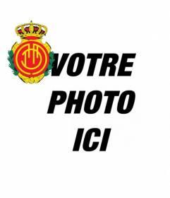 """Ajouter à votre avatar le bouclier de l""""équipe de football Mallorca avec ce photomontage pour les réseaux de médias sociaux"""