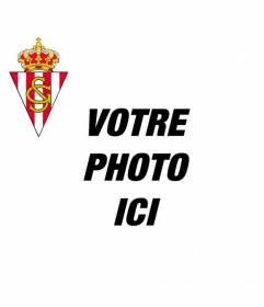 Ajouter le Sporting Gijon réel de bouclier pour votre Facebook ou Twitter photographie et encourager votre équipe de football préférée